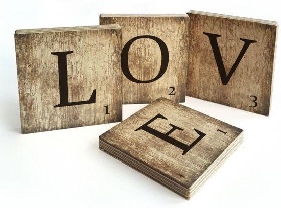 Mooie Houten Letters.Bol Com Scrabble Tekst Love Decoratieletters Scrabble