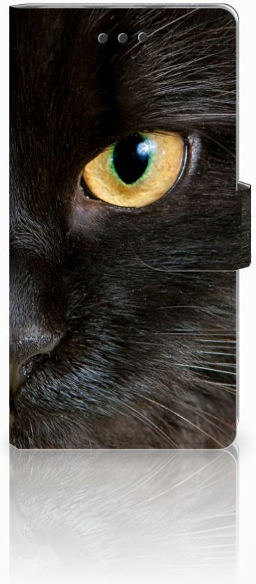 Huawei Ascend P8 Lite Uniek Design Cover Zwarte Kat in Looperskapelle