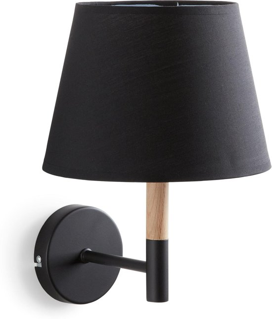Wandlamp Met Kap.Kave Home Moskov Wandlamp Zwarte Kap