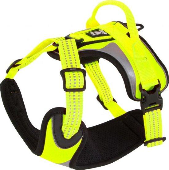 Hurtta Padded Dazzle Harness . hondentuig. Floriserend geel 45-60 cm