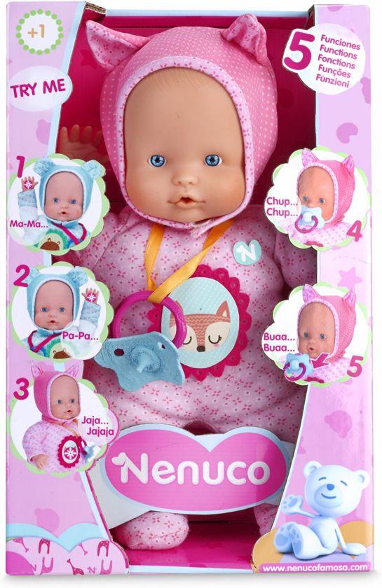 Nenuco soft babypop 30cm 5 geluidjes