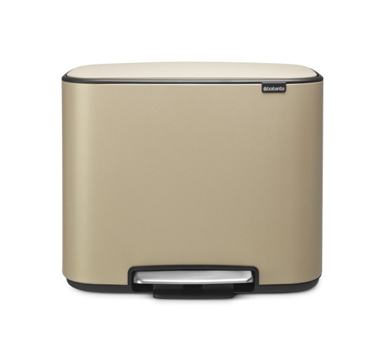 Brabantia Bo Sense of Luxury Prullenbak - 3 x 11 l - Mineral Golden Beach
