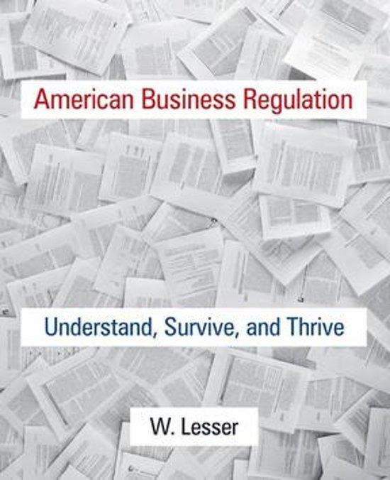 American Business Regulation