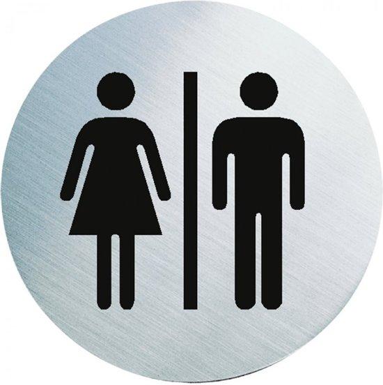 fb5413bf496 bol.com | WC bordje dames/heren toiletten, roestvrij staal , zilver ...
