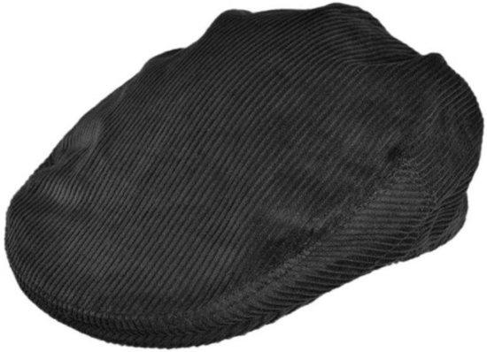 ba903c19dcb Jaxon Hats Corduroy Flat Cap Zwart - XL