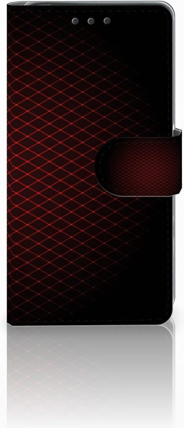 Sony Xperia X Uniek Boekhoesje Geruit Rood