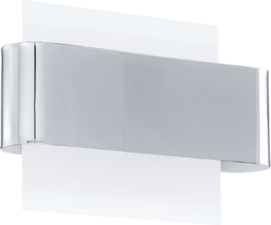 EGLO Sania - Wandlamp - 2 Lichts - Chroom, Glanzend Wit