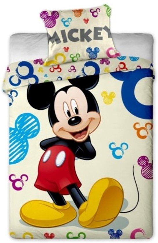 bol com   Disney Mickey Mouse Colours   Dekbedovertrek   Eenpersoons   140×200 cm   Beige