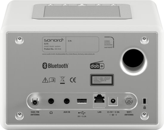 Sonoro ELITE - Internet Radio met CD-Speler - Wit