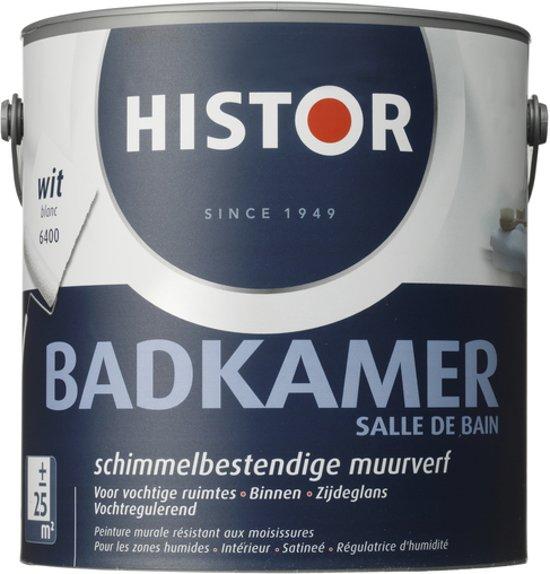 bol.com | Histor Badkamer Muurverf - 2,5 liter - Wit