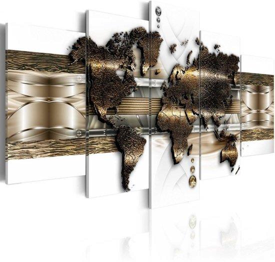 Schilderij - Metalen Wereld