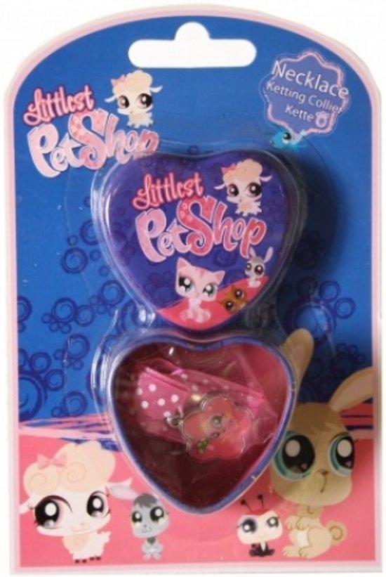 Hasbro Ketting Littlest Petshop Vogel Met Bewaardoosje Roze