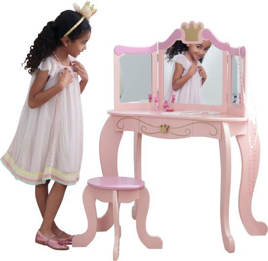 Kidkraft Kaptafel Met Krukje.Kidkraft Prinsessen Kaptafel Stoel