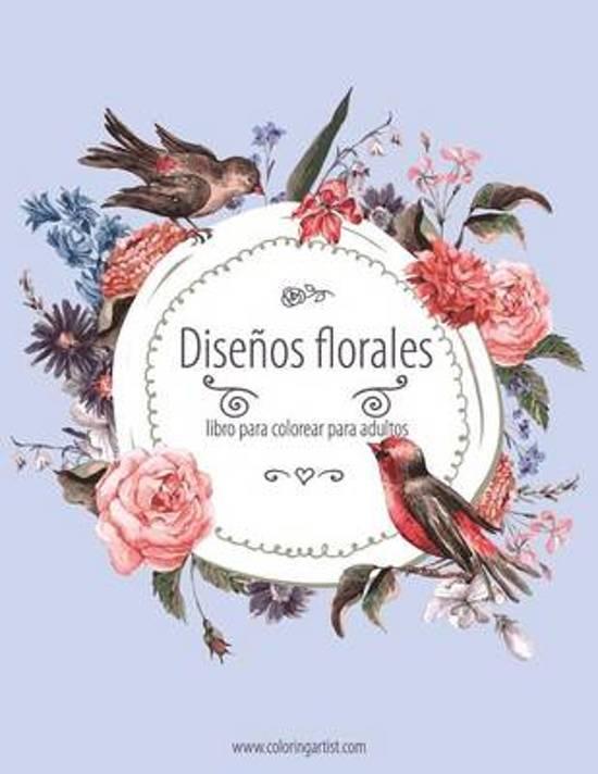 bol.com | Disenos Florales Libro Para Colorear Para Adultos 1, Nick ...