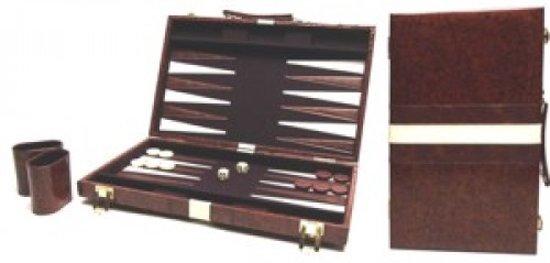 Hot sports Backgammon koffer bruin 38x24