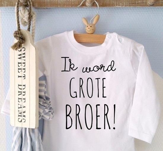 Bedwelming bol.com   Zwangerschap aankondiging T-Shirt Ik word grote broer &CZ43