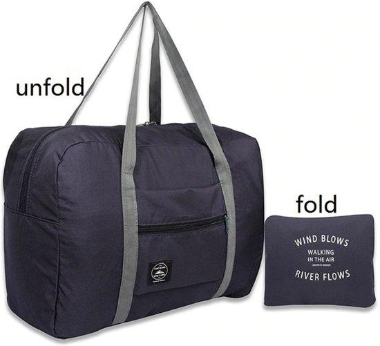 b144873a191 Opvouwbare reis tas duffel | Travel bag | Grote reis organizer | Donkerblauw