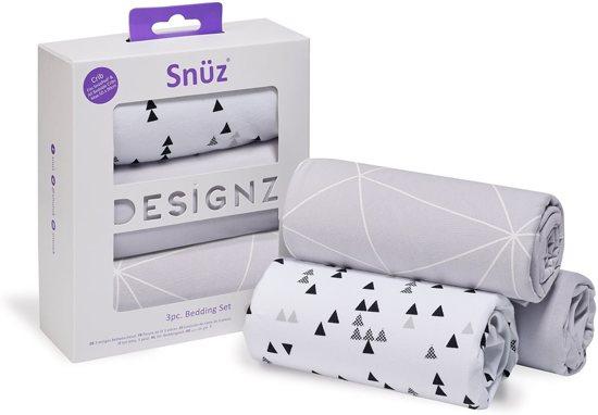 Snuz Designz Bedding set Geo Mono - geschikt voor Snuzpod
