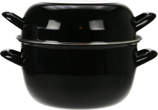 Cosy&Trendy Mosselpan - Ø 24 cm - Zwart
