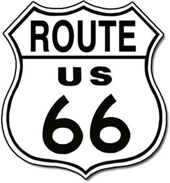 Bol Signs Usa Route 66 Logo Retro Wandbord Metaal 40x30 Cm