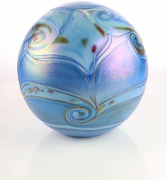 Glasurn Elan 4 liter urn glas blue