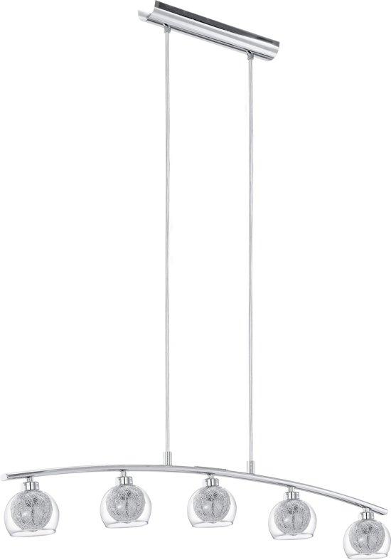 bol.com   EGLO Oviedo - Hanglamp - 5 Lichts - Chroom - Helder, Aluminium