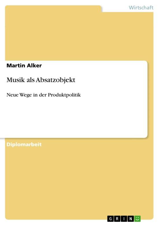 Musik als Absatzobjekt