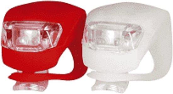 Led fietsverlichting, voorlicht en achterlicht, clip on