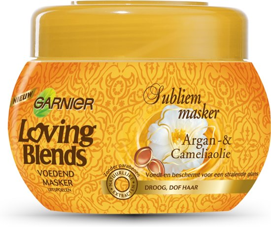 Garnier Loving Blends Argan & Cameliaolie Subliem Haarmasker - 300 ml