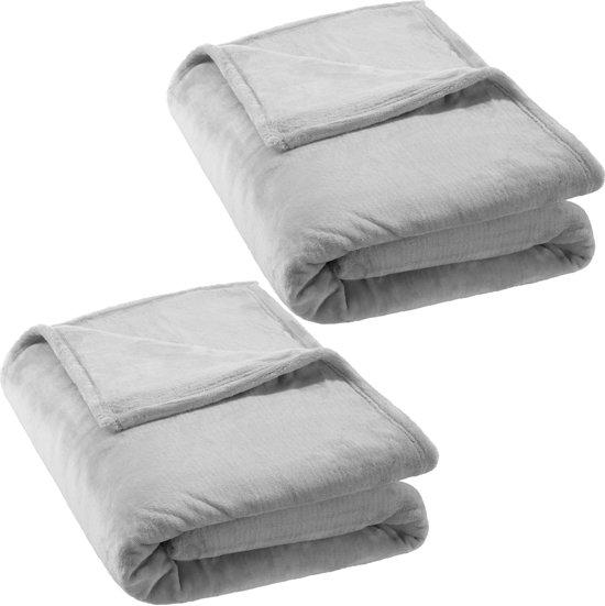 bol.com   2x Super zachte deken, sprei, grand foulard, plaid, dekens ... c64b64b7834