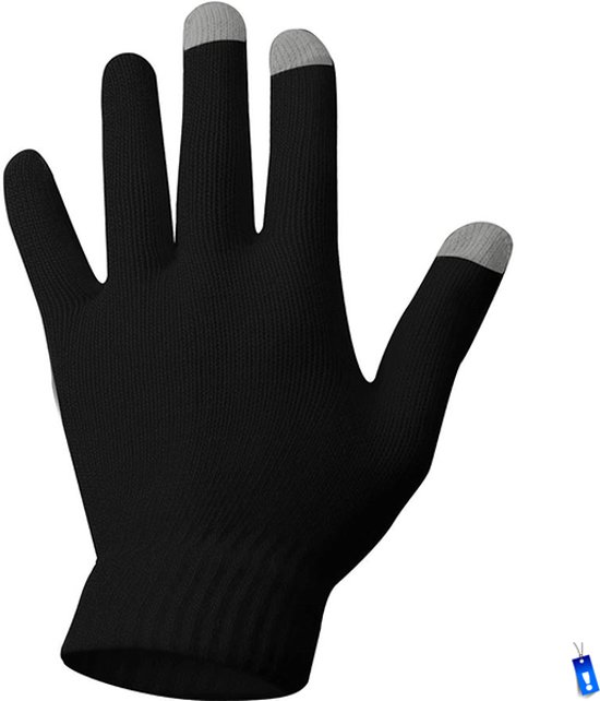 Touchscreen Handschoenen Winterhandschoenen - Winter Ski - Gebreid - Unisex Sr - Dames / Heren - Maat S/M - Zwart