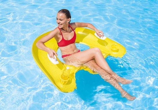 Intex Loungestoel Sit 'n Float 152 X 99 Cm Geel