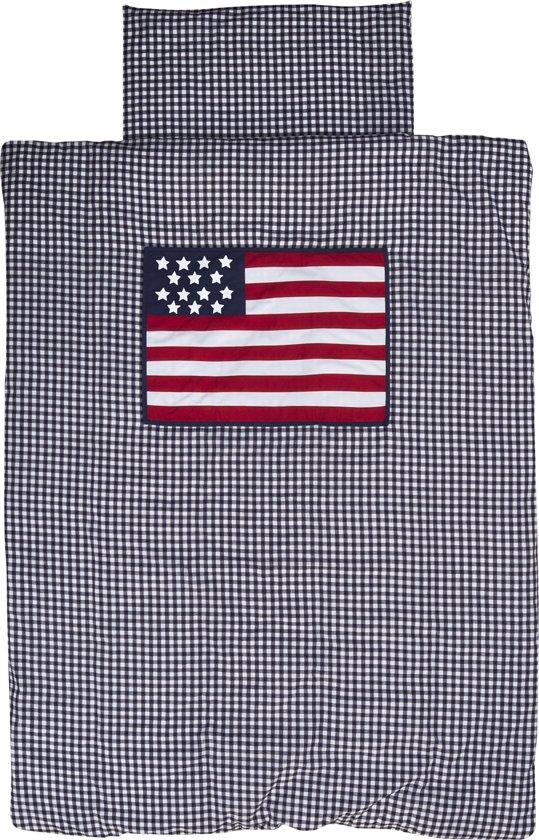 Plaid Amerikaanse Vlag.Taftan Dekbedovertrek Amerikaanse Vlag 100 X 135 Cm