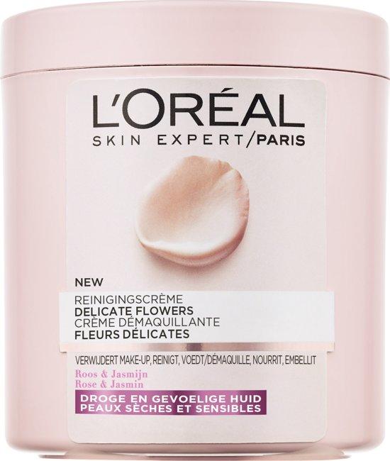 L'Oréal Paris Delicate Flowers Reinigingscrème - Droge en Gevoelige Huid