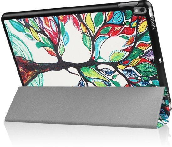 Shop4 - iPad Pro 10.5 Hoes - Smart Book Case Kleurrijke Boom in Burdaard / Birdaard