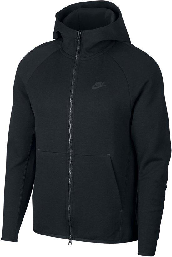 Nike Nsw Tech Fleece Hoodie Fz Vest Heren - Black/(Black) - Maat L
