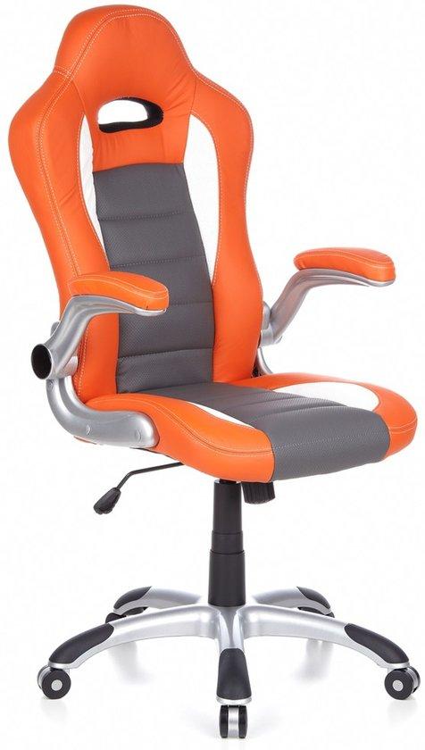 Hjh Office Bureaustoel Racer Sport.Hjh Office Racer Sport Bureaustoel Gamingstoel Oranje Wit