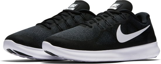 Nike Free Rn 2017 Hardloopschoenen Heren - Black/White-Dark Grey-Anthracite