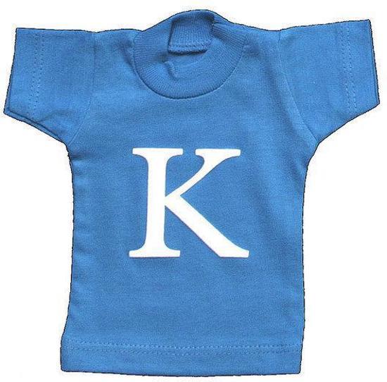 Lettershirts blauw K