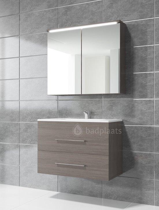 Badkamermeubel colombo 80cm zonder spiegelkast grijs - Badkamer badplaats ...