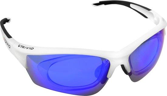 Trivio Nimity Duolux - sportbril - met inzetstuk brildragers en 2 extra lenzen - wit zwart