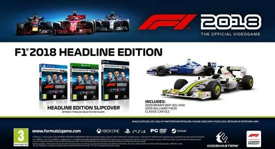 F1 2018 Headline Edition PS4