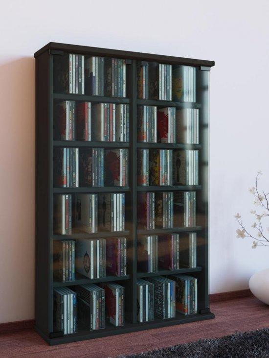 Roma cd en dvd opbergsysteem zwart for Boeken opbergsysteem