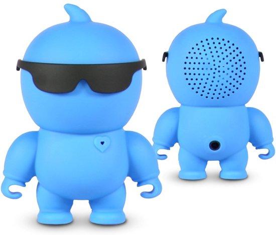 NIKKEI NIKKIEBE Portable mini bluetooth speaker en Aux-in - Blauw