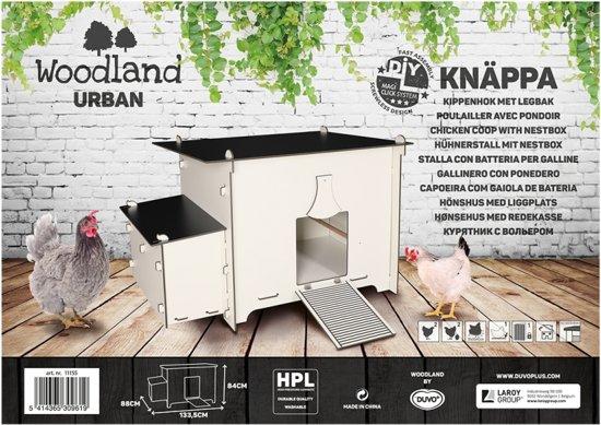 Woodland Urban Kippenhok Knäppa Wit/Zwart