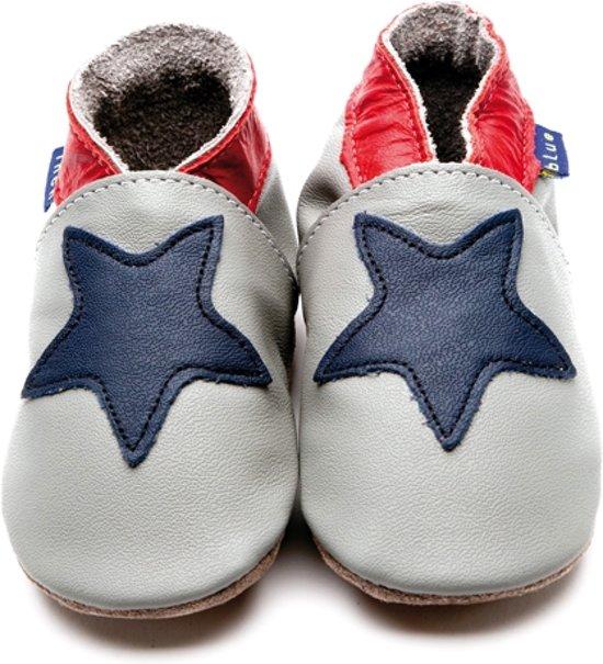 Inch Blue babyslofjes starry grey navy maat XL (14,5 cm)