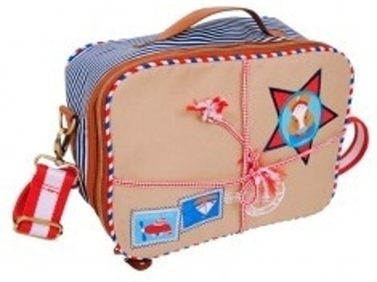 LIEF! Post Package Suitcase Bag - 28x20x12 cm - Zand