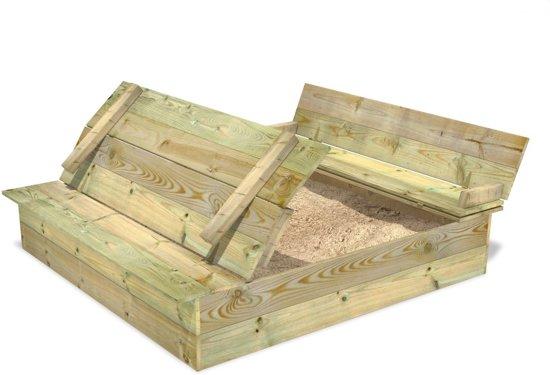 Zandbak met bank en deksel WICKEY Flip 120x125cm