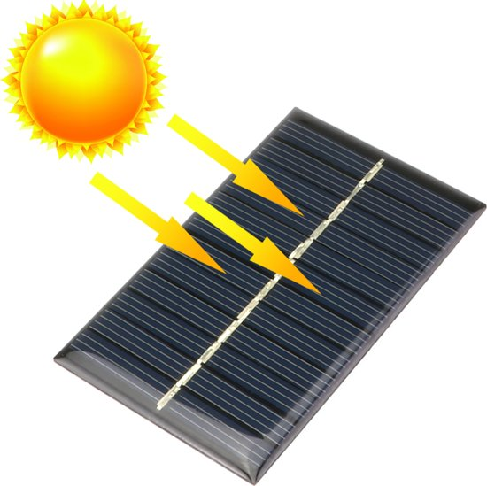 1 Stuk - 6V 1W 110x60mm Mini zonnepaneel