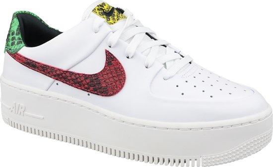 Nike Air Force 1 W Sage Lo Premium BV1979 100, Vrouwen, Wit, Sneakers maat: 40.5 EU